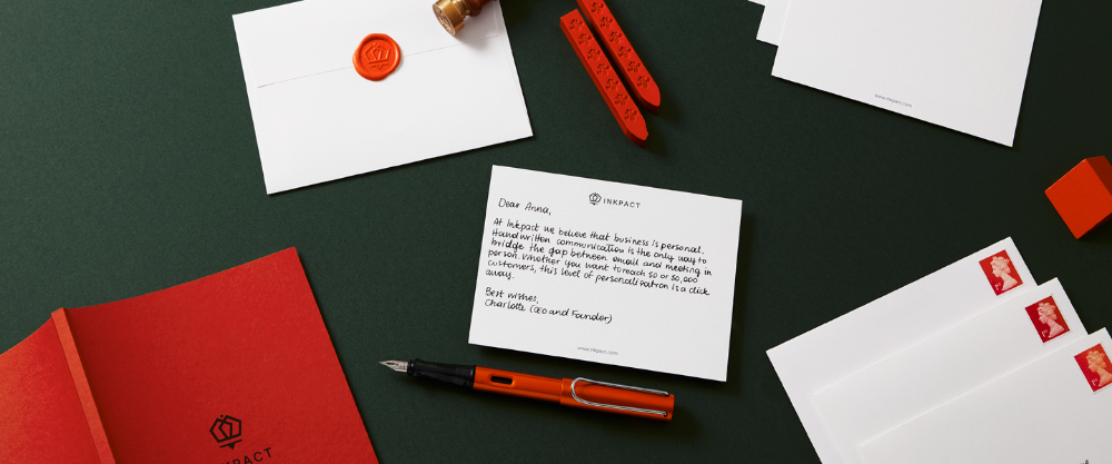 Inkpact offers personalised handwritten communication